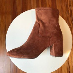Womens Brown Heeled Booties 11